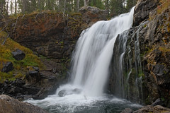 Moose Falls (bhophotos) Tags: travel autumn usa nature water river landscape geotagged nationalpark nikon rocks falls yellowstonenationalpark yellowstone wyoming ynp wy moosefalls d700 2470mmf28g