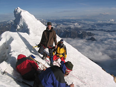 Summit of Huayna Potosi (adventure_alternative) Tags: latinamerica southamerica bolivia huaynapotosi pequenoalpamayo