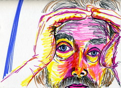 Soren (Gila Mosaics n'stuff) Tags: portrait male art artist hand marker portraitparty jkpp jkpp2013