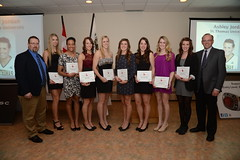 The All-Canadians/Athltes par excellence pan-canadiennes (Lakeland College) Tags: banquet nationalchampionships jostens championnatcanadien ccaawomensvolleyball fmininesdevolleyballdelacsc