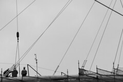Construction workers (DavidAndersson) Tags: blackandwhite monochrome lines vertical gteborg construction sweden gothenburg working diagonal tamron18200f3563