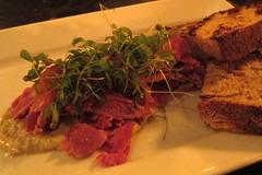 Brooklyn - Cobble Hill: Char No. 4 - Lamb Pastrami (wallyg) Tags: nyc newyorkcity ny newyork brooklyn restaurant foodporn cobblehill lamb gothamist appetizer carrollgardens eater kingscounty charno4 lambpastrami