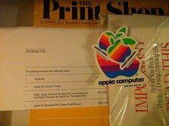 apple IIe packing list + decals (craizdgoat) Tags: travel phone jeddah ksa oldshit
