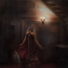 Rapture (Liat Aharoni) Tags: light red portrait dress surreal haunted conceptual texturesbylesbrumes