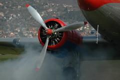 658 7-4-07 Budaors Li2 engine start up 5, with much smoke (Proplinerman) Tags: aircraft douglas dc3 dakota airliner propellor budaors c47 li2 lisunov propliner halix lisunovli2