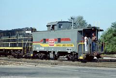 SCL cab 01139 Sumter SC September 1980 (Engine Shed) Tags: coast slide line caboose seaboardcoastline seaboard piszczek
