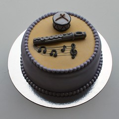 Music Cake (misscloudberry) Tags: birthday music cake notes drum flute note customized miss cloudberry gclef misscloudberry