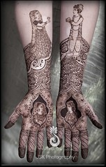 Soulmates... two halves of the same soul joining together in life's journey. (Hiral Henna) Tags: art beautiful tattoo groom bride bay san francisco pretty body area bridal henna mehendi temporary hina mehndi adornment heena bridalhenna mehandi bridalmehndi