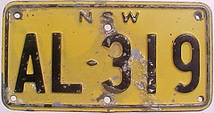 New South Wales motorcycle (sixes & sevens) Tags: new wales south nsw license plates 1956 licenseplates