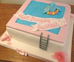 Dolphin Swimming Pool Cake