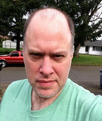 Day 449 - Day 83: Big forehead, green shirt (knoopie) Tags: selfportrait me march doug year2 tacoma day83 picturemail iphone knoop 365days 2013 knoopie 365more day449 365daysyear2