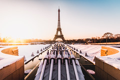 Tour Eiffel (Philipp Gtze) Tags: paris tower sunrise tour eiffel turm eiffelturm trocadero