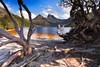 Cradle Mountain (stevoarnold) Tags: trees mountain clouds landscape nationalpark australia bluesky historic tasmania dovelake cradlemountain