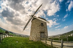 ~ le moulin de moidrey ~ (Janey Kay) Tags: france windmill normandie normandy montsaintmichel moulinvent janeykay april2013 fujifilmxpro1 avril2013 samyang8mm28fisheye apparmentcestleprintemps springapparently lookslikeitwassuchawonderfulwarmdaydoesntitappearancescanbedeceivingitwasaround7cbutwithawindchillfactorthatmadeitfeellike3c ontopofahillinlotsofwind