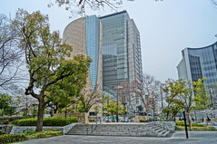 NHKNHK Osaka Center (Takashi K. A) Tags: city trees building japan museum hall spring dome cherryblossoms osaka kansai staircases hdr nhk osakacastle