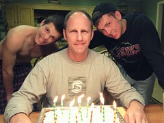 Birthday Dad (OakleyOriginals) Tags: birthday family light man cake candles dad burn sing blowout 50 celebrate