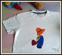 Camiseta para David (Paloma Rojo) Tags: sue patchwork niño camiseta aplique sunbonnet