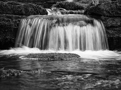 (Paul Nichols) Tags: white black nature canon landscape eos mono waterfall force yorkshire and ef dales 24105l scaleber 5d2 5dmk2