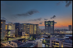 Place of employment (Sunbound) Tags: city sunset japan tokyo nikon sony shinagawa metropolis hq hdr d600 1635mm
