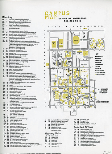 North Dakota State University campus map, 2001
