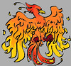 Knowledge (iDoodle2Draw) Tags: red orange bird yellow fire knowledge creature pheonix mythical