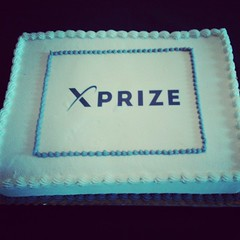Celebrating the official unveiling of our new XPRIZE logo today... with cake!