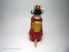 Geisha Mouse (QuernusCrafts) Tags: cute mouse polymerclay geisha kimono tutorial quernuscrafts