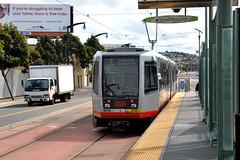 Muni 1417 [San Francisco tram] (Howard_Pulling) Tags: sf sanfrancisco california ca photo nikon picture tram april breda trams strassenbahn lrv 2013 hpulling howardpulling d5100