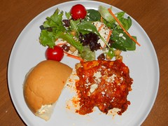 Lasagna & Salad (Mr. Ducke) Tags: food dinner lasagna
