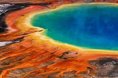 Grand Prismatic Spring - A closer look ($BOSH$) Tags: park usa hot water nikon national yellowstone geyser tamron vc grandprismaticspring 70300 d7000