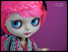 Priscila (BelladonaGarmog Doll's) Tags: pink photoshop hair toy toys bigeyes photo eyes doll dolls makeup carving piercing priscila blythe custom takara customs septum mueca scalp blythes pureneemo enchantedpetal eyeschips panasonicdmcgh2 belladonagarmog