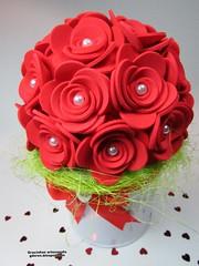 Bouquet de flores para o Dia da Mãe (Gracinhas artesanato) Tags: topiary topiaria foami floreseva evaflower topiariafloreseva topiariafoami