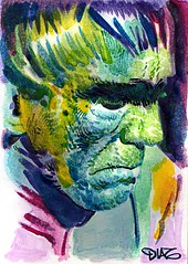 The Ghoul Art by Luis Diaz-11 (Luis Diaz Art) Tags: boriskarloff theghoul artofrobertaragonsketchcards artbyluisdiaz