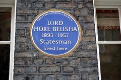 Belisha (Squirmelia) Tags: blue london westminster wall plaque statesman staffordplace lordhorebelisha