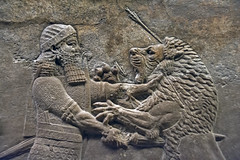 Assyrian Relief, British Museum (Digital Biology) Tags: relief carving stone museum ancient assyrian lion hunter arrows