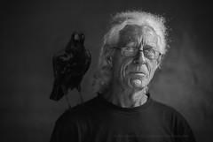Al and his crow (suemartin664) Tags: crow raven surfer bassplayer