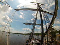 (theleakybrain) Tags: mokacam mokacam4k 20160716134821 columbus ships hudson wisconsin nina pinta tall wideangle actioncam indegogo