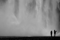 The silence of the waterfall (Eugenio Sanchez Photography) Tags: skgafoss waterfall iceland water cascada islandia agua blackwhite bw blancoynegro
