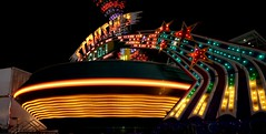DSC02227 (Moodycamera Photography) Tags: canadiannationalexhibition cne toronto ontario nightphotography rides slowshutterspeed long exposurerlights ferriswheel swing turning twisting spining amusment horse hdr