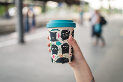 Remedy for Mondays (neus_oliver) Tags: mondays coffee train station morning work commuting hand cool mug remedy mnster germany bamboo cup