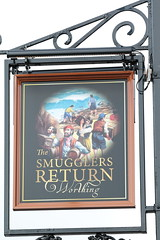 The Smugglers Return pub sign Worthing West Sussex UK (davidseall) Tags: the smugglers return pub pubs sign signs inn tavern bar public house houses worthing west sussex uk gb british english