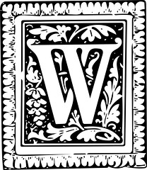 "Letter ""W"" (sjrankin) Tags: 19august2016 edited library britishlibrary character letter alphabet vector vectorized illustration grayscale w"