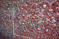 Gum Wall (panfriedcharlie) Tags: nasty gum chewing wall seattle gumwall pikeplace
