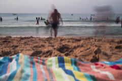 IMG_1032 (thomasshaw1709) Tags: portugal albufeira sea rocky abstract slow shutter ocean beach sand people canon