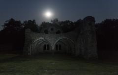 when you feel the urge to howl at the moon (lunaryuna) Tags: england surrey farnham waverleyabbeyruins night nighttime nightphotography nocturnalphotography nightsky starrynight moon moonlight moonstruck ruins decay abandoned lightmood illumination lunaryuna