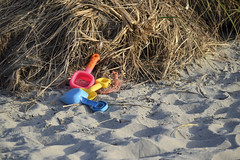 DSC_0059 (RYANinHD_87) Tags: maine hermit island campground beach dunes sanddunes sand sandunes seagrass dunegrass toys shovel sandcastle castle