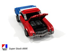 American Motors Corporation AMX Super Stock - 1969 (lego911) Tags: amc american motors corporation amx super stock ss 390 coupe 1969 1960s classic drag racer street auto car moc model miniland lego lego911 ldd render cad povray muscle compact lugnuts challenge 106 exclusiveedition exclusive limited special edition usa america cid