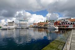 Harbor of Stavanger (koos.dewit) Tags: 2016 fuji fujixe2 fujifilm harbor koosdewit koosdewitnl noorwegen norway stavanger clouds colors holiday water