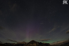 Aurora Over Lake Minnewanka (ryan.kole32) Tags: banff banffalberta banffnationalpark nationalpark albertamcanada canadianrockies rockies rockymountains aurora auroraborealis northernlights night nightscape stars clouds landscape nature beauty beautyinnature travel outdoors hiking lakeminnewanka minnewanka sony sonya77 longexposure peaceful calm serene