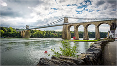 Menai Suspension Bridge, Anglesey (michael-little) Tags: menai brigde wales anglesey river sea hdr nikon d750 1635